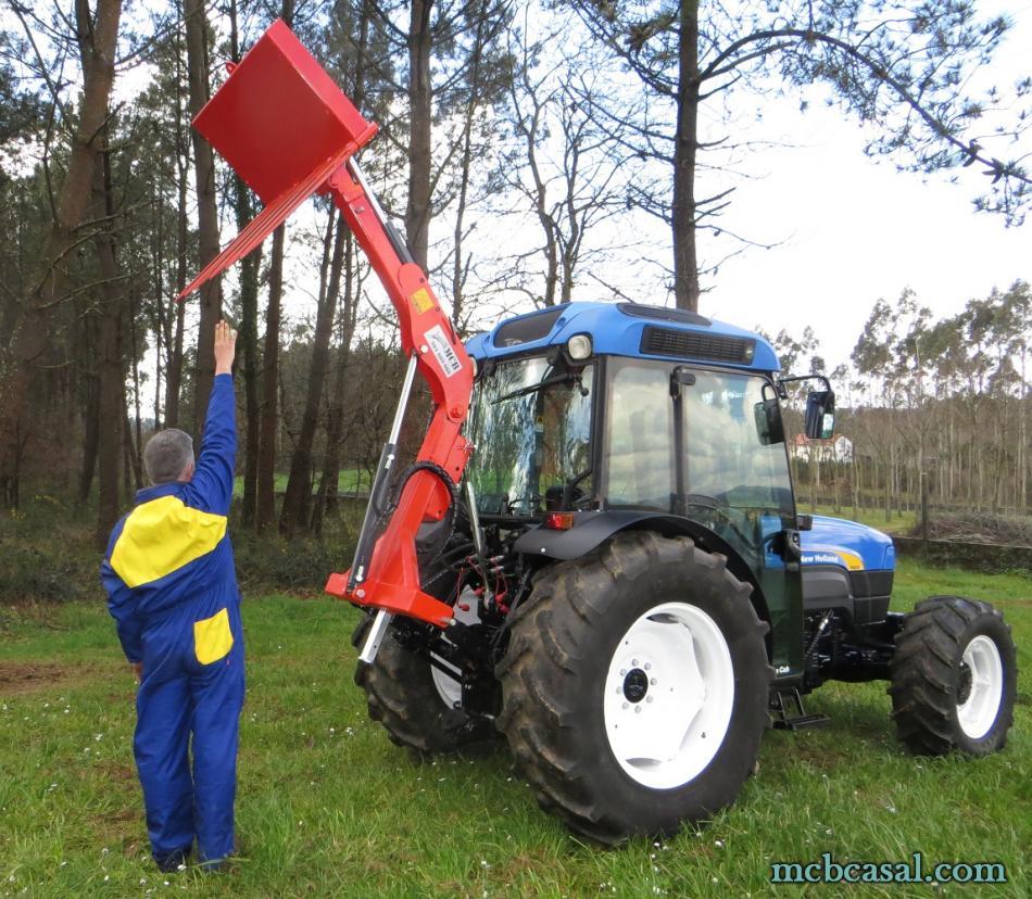 Pala cargadora para tractor 7